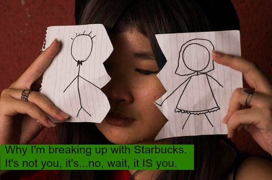 Post image for A Dear John letter for Starbucks