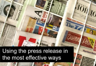 How to Use a Press Release