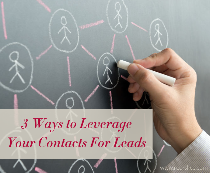 3 Ways to Leverage Your Contacts - photo of person drawing social media circles on chalkboard