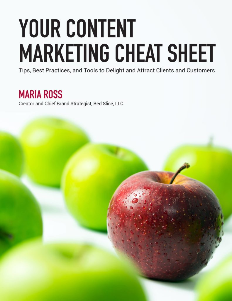 Content Marketing Cheat Sheet front page